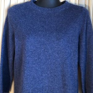 Talbots Cashmere Sweater Small Blue 3/4 Sleeves